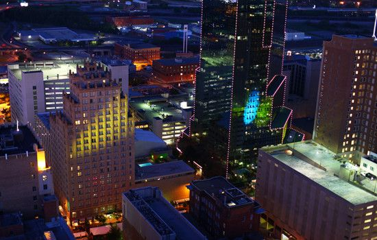 Sundance Square, Ft. Worth, TX - before the new construction.