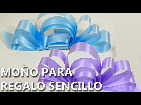 Moños De Listón Para Regalo Cómo Hacer How To Tie A Gift Bow Youtube Moños Para Regalo Moños De Liston Regalos Fáciles De Hacer