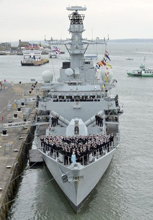 Her Majesty The Queen Visits HMS Lancaster | Royal Navy: