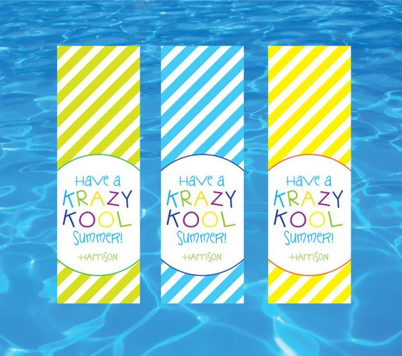 Have a Krazy Kool summer gift tags; end of year favor tags