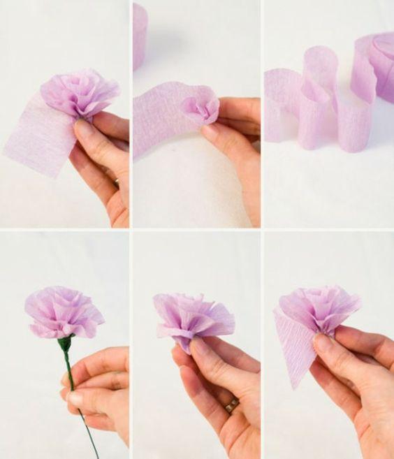 comment cr er une fleur en papier cr pon astuces et photos photos et comment. Black Bedroom Furniture Sets. Home Design Ideas
