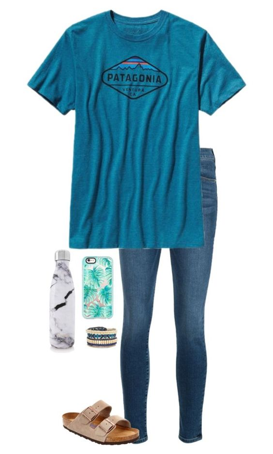 """""""🎀All you need is love🎀"""" by livimay ❤ liked on Polyvore featuring Frame Denim, Patagonia, Birkenstock, S'well, Casetify and Stella & Dot"""