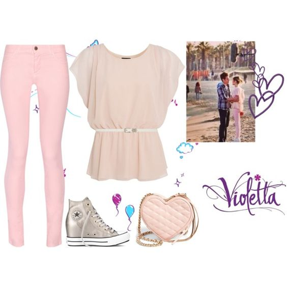 Violetta 3 Supercreativa By Stylewiktoria On Polyvore Featuring Mode Maison Kitsun Converse