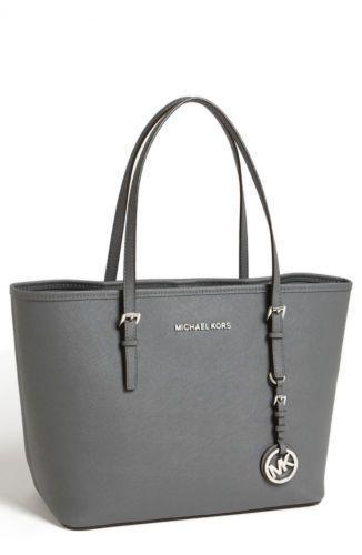 Michael Michael Kors Handbag Jet Set Travel Small Tote Dark Slate ...