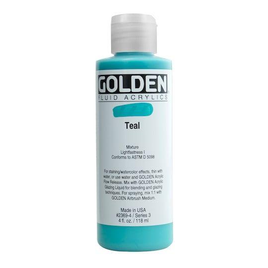 Golden Fluid Acrylics 4 Oz Paint In Teal Michaels In 2020