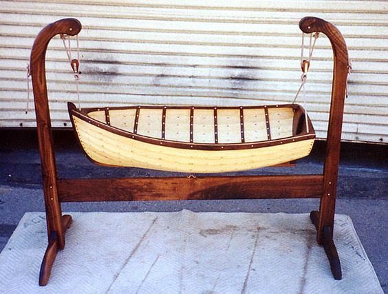 Baby boat bed made by Nick Offerman (Ron Swanson on Parks and Recreation)