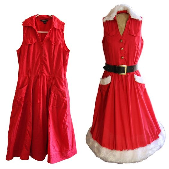 Twinkly Christmas Dress - from frumpy to festive. This is way too amazing.