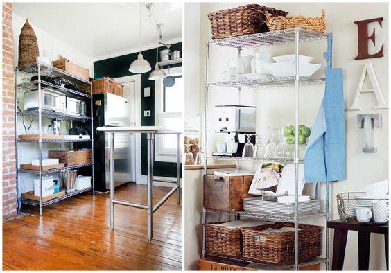 02 estanterias metalicas cocina orden ideas decoraci n for Estanterias cocina industrial
