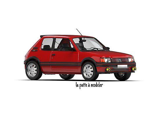 Impression Photo Peugeot 205 Gti Par La Patte A Modeler プジョー プジョー 205