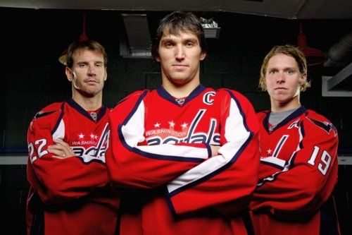 Washington Capitals' Triple Threat!   ~Mike Knuble~Alex Ovechkin~Nicklas Backstrom~