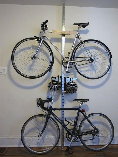 Put your roadbikes on the wall! Simple method using IKEA