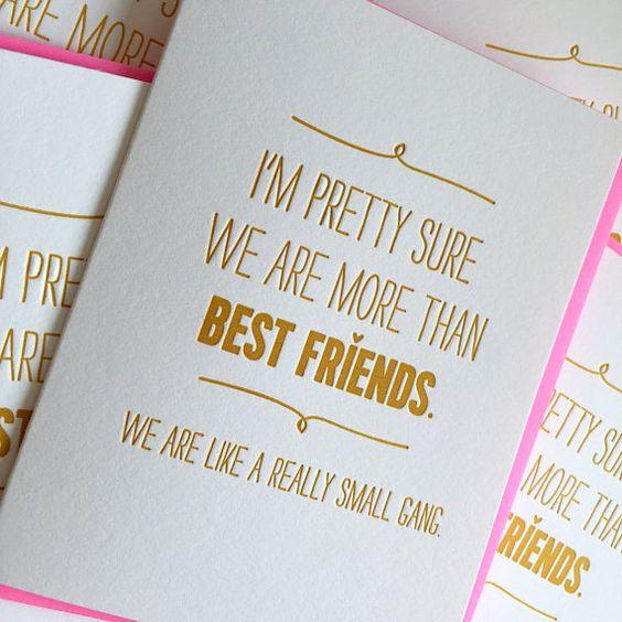 Besten Freund Karte  wir sind mehr als Freunde. Wir von jdeluce