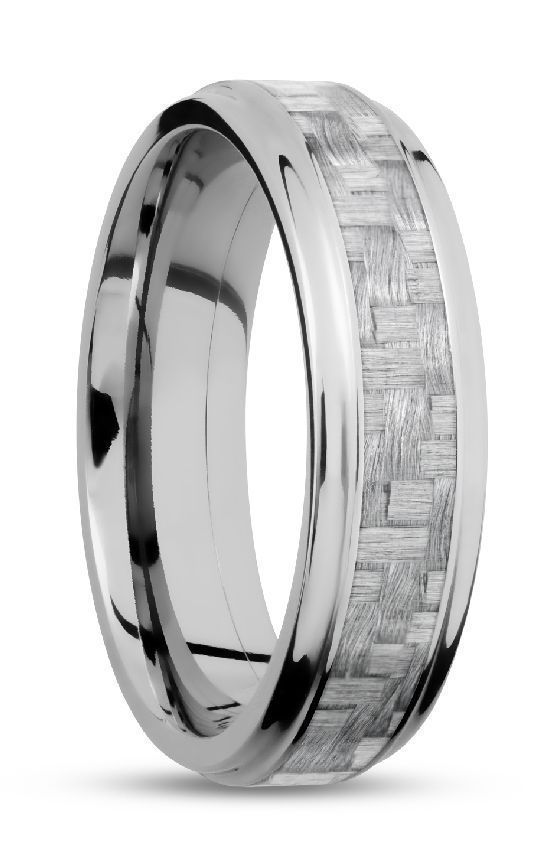 White Gold And Silver Carbon Fiber Men S Wedding Ring Www Bradleys Jewelers Com Titanium Wedding Rings Mens Wedding Rings Wedding Rings For Women