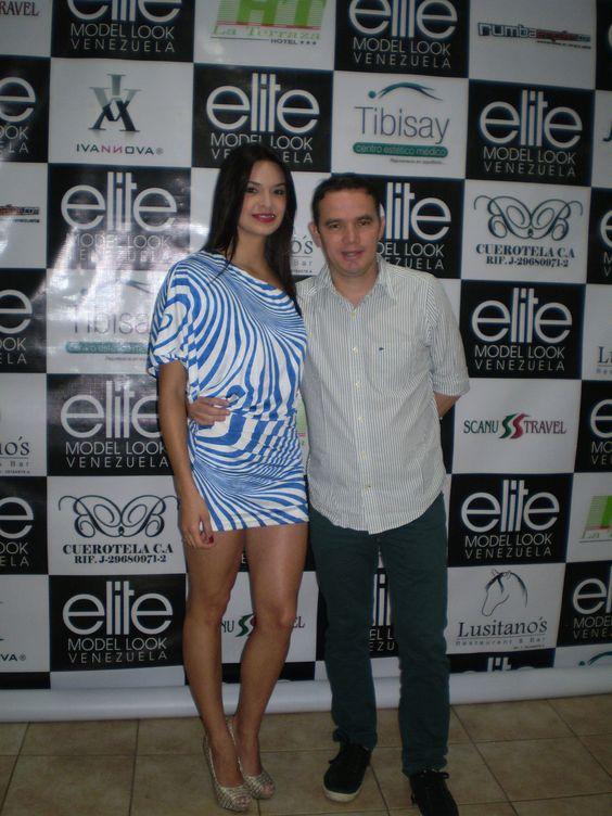 La hermosa mari´an parras staff  presentes en la transmisión del ELITE MODEL LOOK VENEZUELA
