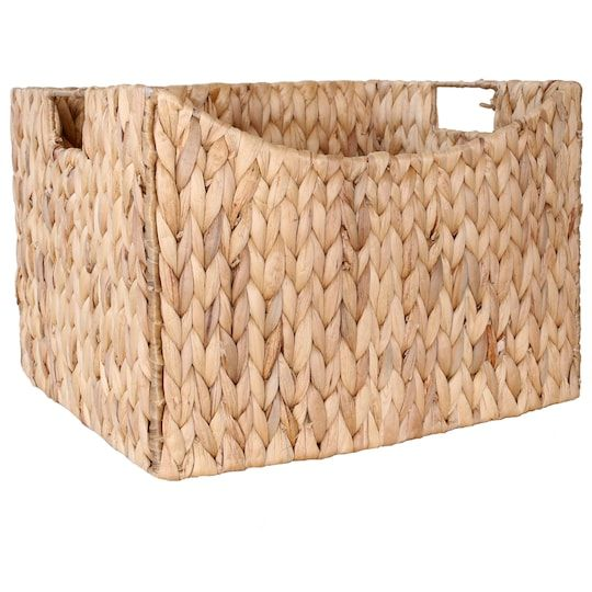 14 Water Hyacinth Rectangle Shelf Storage Basket By Ashland In