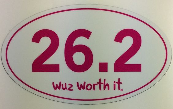 Just what to ladies need a pink 26.2 oval sticker. www.wuzworthit.com
