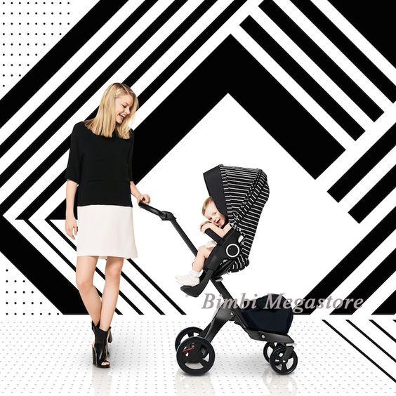 Stokke - Xplory True Black Special Edition - Il trio dalle prestazioni elevatissime, con uno stile incofondibile per non passare inosservati. Bimbi Megastore #stokke #bimbo #trio #passeggino #neonato #fashion #xplory #specialedition