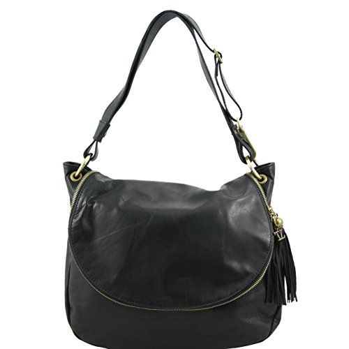 Tuscany Leather TL Bag - Soft leather shoulder bag with t...