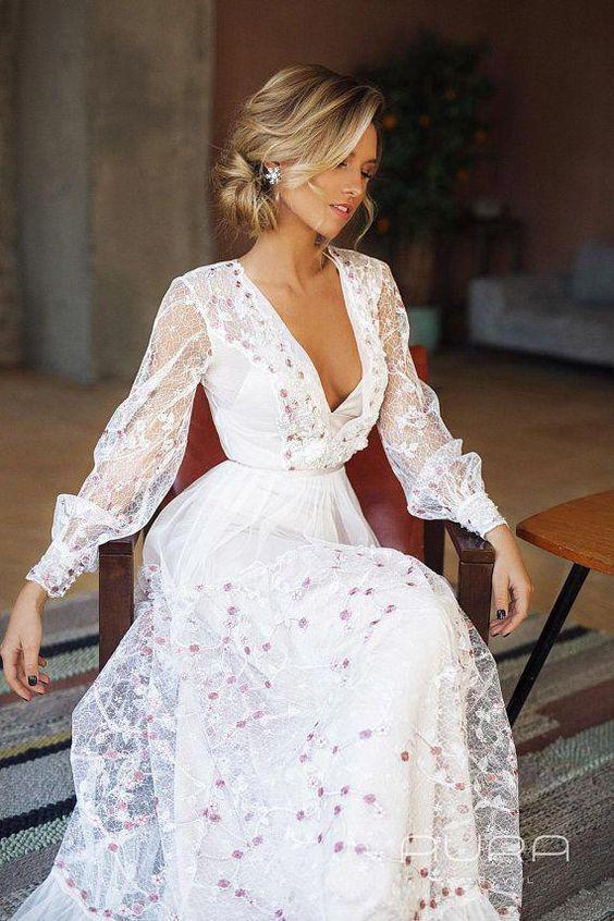 Chic rustic wedding dress