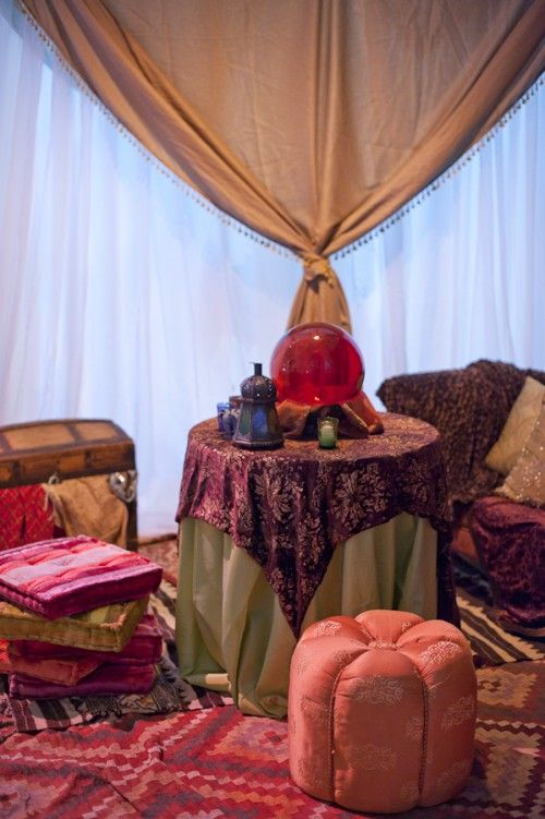 Crystal Ball Tablecloths And Tent On Pinterest