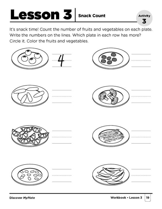 Free MyPlate kindergarten workbooks are here for #BacktoSchool ...