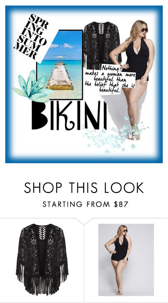 """""""Beautiful big or small"""" by pphotographyy ❤ liked on Polyvore featuring Miraclesuit, Bora Bora, stylishcurves and plussizeswimsuit"""