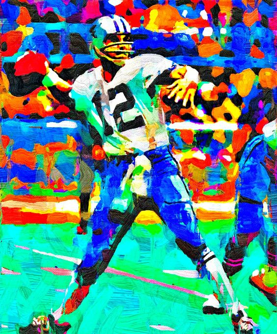 Roger Staubach Fauvism Painting - Virtual Painter 6.
