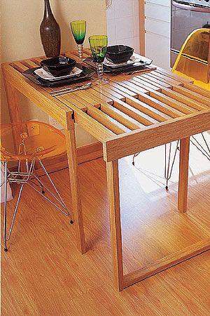para pequenos espaços: mesa extensível:
