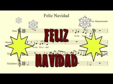 Feliz Navidad I Wanna Wish You A Merry Christmas For Flutes And Xylophones Youtube Feliz Navidad Xylophone Feliz