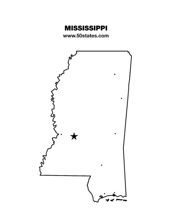 Blank Map Of Mississippi Find This Map And The Other States At - Blank map of the us with mississipi