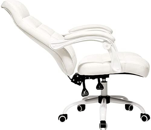 New Ozzptuu Steel Pu Leather High Back Chair Adjustable Reclining Swivel Office Chair Ergonomic White Online Shopping Melyssanicefashion In 2020 Office Chair Reclining Office Chair White Office Chair