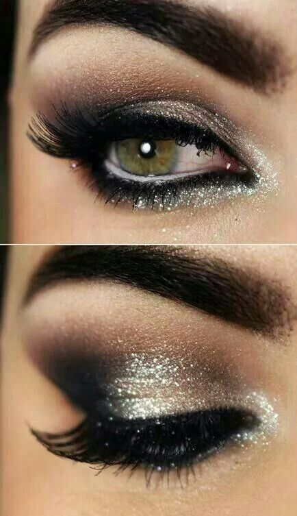 Silver shimmer with brown for green eyes. Must try!