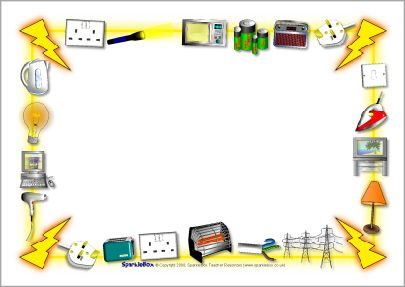 Electricity-themed A4 page borders (SB3892) - SparkleBox ...