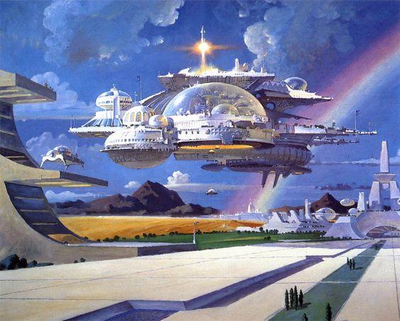 City in Flight by Robert T McCall