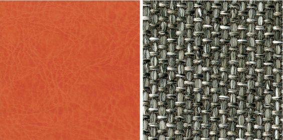 Left: Ultrafabrics Brisa Fresco, Tiger Lily Right: Designtex Opulent