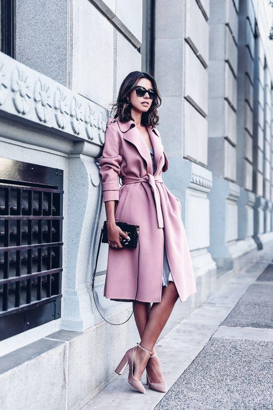 THEORY Oaklane open front trench coat | OTTE NEW YORK Slip dress | AQUAZZURA Alix velvet pumps | MCM Printed logo sunglasses | LOUIS VUITTON Petite Malle bag