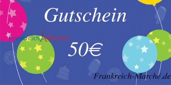 Frankreich Marche - Geschenkgutschein 50EURO