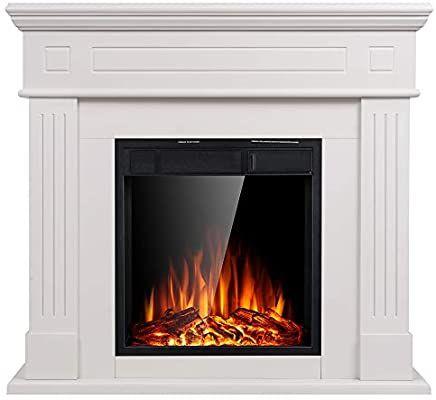 Jamfly Electric Fireplace Inserts Freestanding Wood Heater Stone Mantel 750w 150 Electric Fireplace Heater Electric Fireplace Logs Fireplace Heater