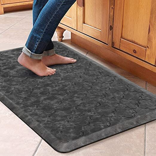 Wiselife Kitchen Mat Cushioned Anti Fatigue Floor Mat 17 3 Quot X28 Quot Thick Non Slip Waterpr Kitchen Rugs And Mats Anti Fatigue Flooring Kitchen Mats Floor