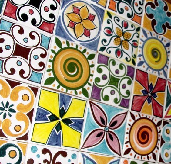 Azulejos pintados a mano for the home pinterest for Azulejos estilo mexicano