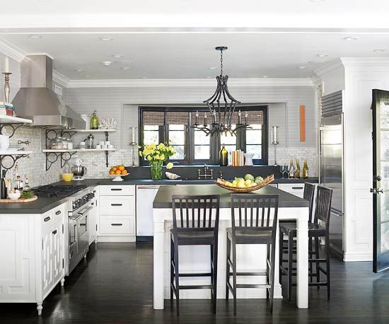 This well-designed kitchen is filled with savvy storage ideas. See all of them here: http://www.bhg.com/kitchen/storage/organization/storage-packed-kitchens/?socsrc=bhgpin060612