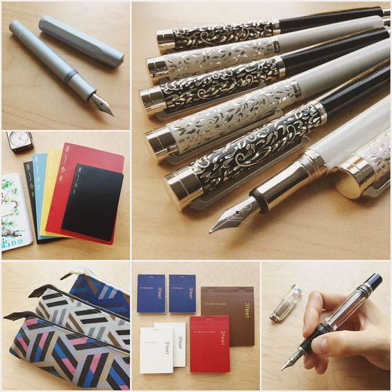 New Arrivals Fountain pens notebooks and more! Go here: http://to.jetpens.com/2cdsV0j  Waldmann Xetra Vienna Fountain Pens Kaweco AL Sport in Light Blue Fountain Pens Stalogy 365days Notebooks Marks David David Pen Cases Maruman 3feet Notepads TWSBI Vac Mini in Smoke  Clickable link in Instagram profile!#instajetpens