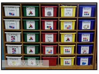 FREE Manipulative Cubby Labels