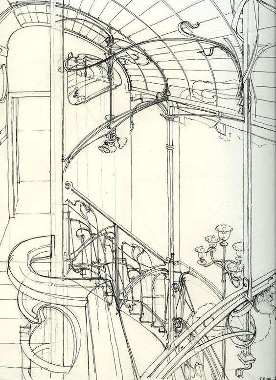 Dessin de Victor Horta