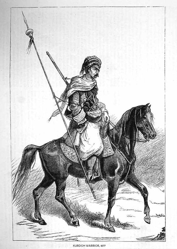 Kurdish Warrior, 1877.: