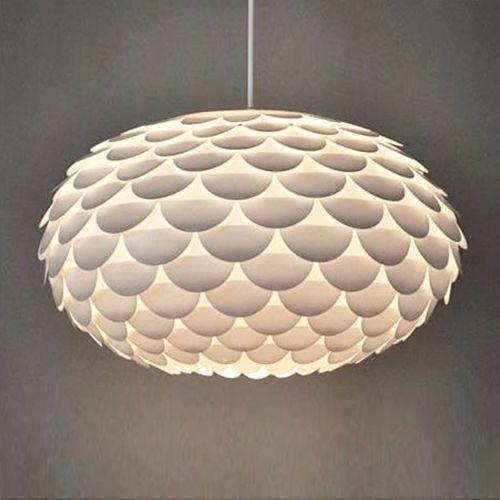Modern Funky Retro Style White Artichoke Ceiling Pendant Light