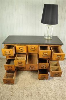 1930u0027s Multi Drawer Cabinet - Vintage Industrial Furniture - Original House