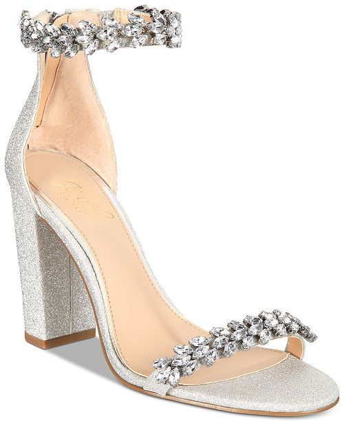 Silver evening shoes, Evening sandals