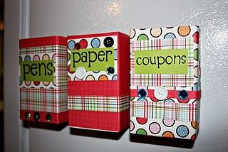 Cereal Box Crafts. Storage for scrapbooking items or for arts and crafts suplies.