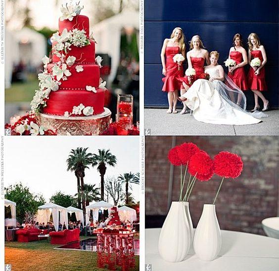 deco-mariage-rouge  Mariage rouge amour, blanc et argent  Pinterest ...